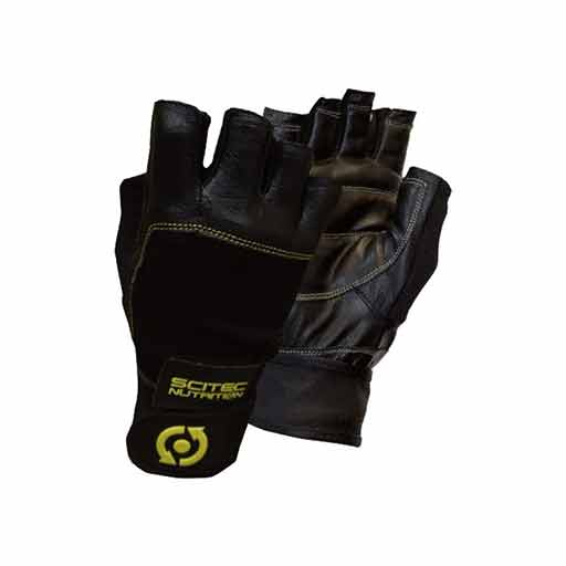 Weightlifting Gloves - Leather Yellow Style
