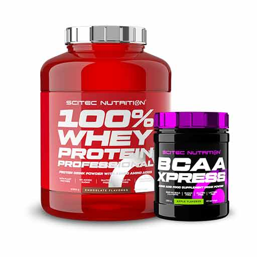 Pack Scitec - 100% Whey + BCAA Xpress